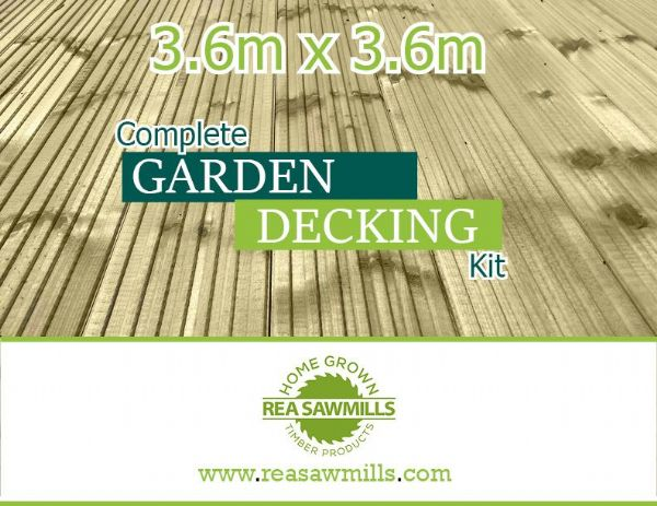 3.6m x 3.6m Decking Kit (12ft x 12ft Approx)